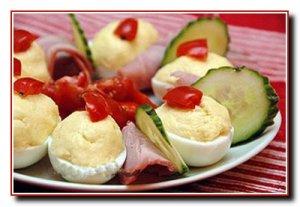 Яйца фаршированные сырным кремом