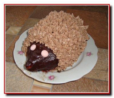 Бисквитный торт «Ежик»