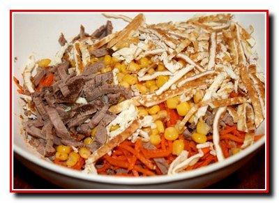 Салат с мясом «Салют»