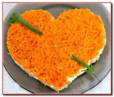 Салат из сердца «Влюбленное сердце»