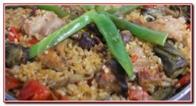 Испанское блюдо Паэлья
